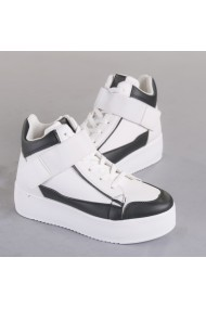 Pantofi sport dama Nuba alb cu negru