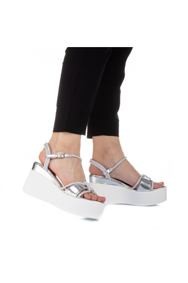 Sandale dama Zephira argintii