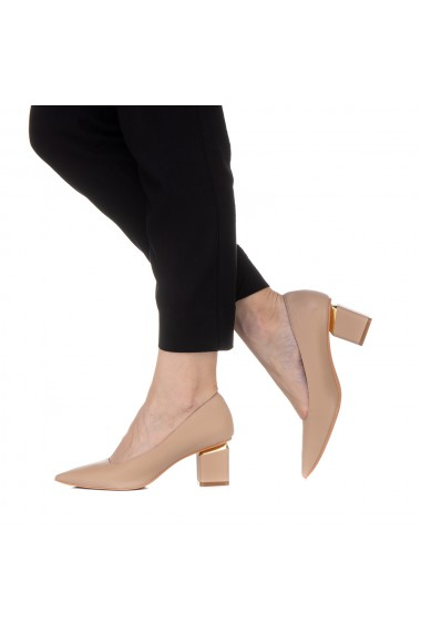 Pantofi dama Karola nude
