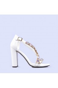 Sandale dama Laura albe