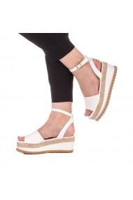 Sandale dama Ivola albe