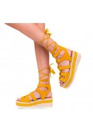 Sandale dama Christa galbene