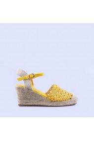 Sandale dama Alfreda galbene