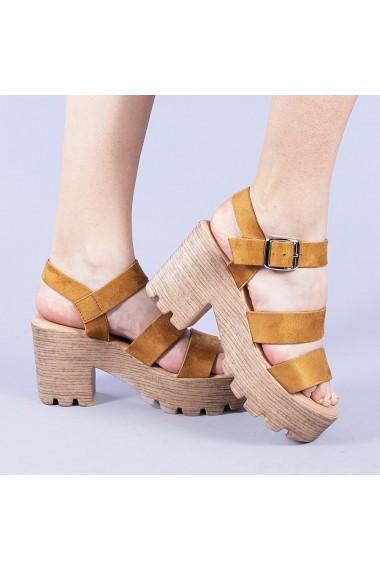 Sandale dama Nicola camel