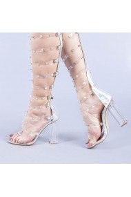 Sandale dama Charlotte argintii