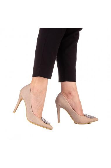 Pantofi dama Clora aurii