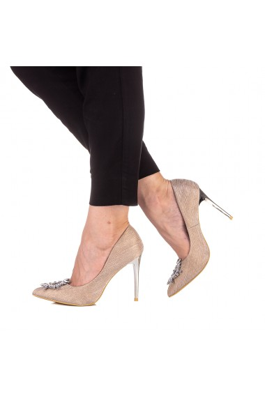 Pantofi dama Kellia aurii