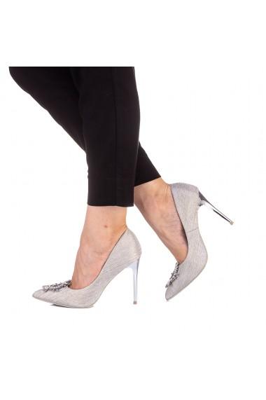 Pantofi dama Kellia argintii