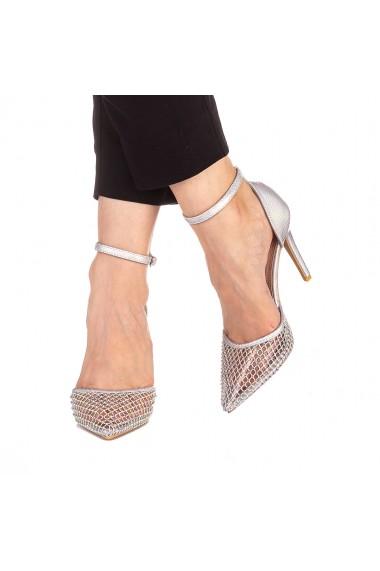 Pantofi dama Miella argintii