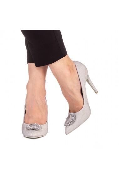Pantofi dama Clora argintii