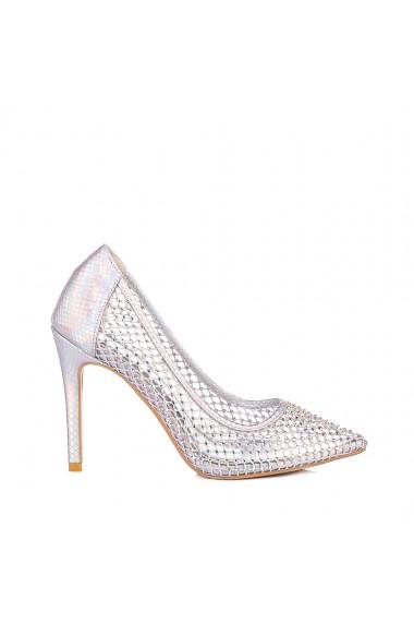 Pantofi dama Velona argintii