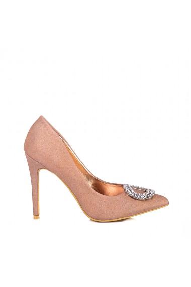 Pantofi dama Clora champagne