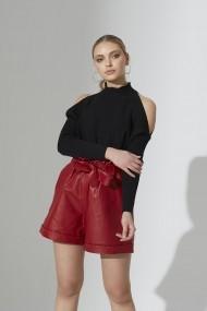 Pantaloni scurti din piele IPARELDE IPAW1002 Rosu