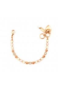 Bratara placata cu Aur roz de 24K cu cristale Swarovski Tiara Day 4008-2333RG