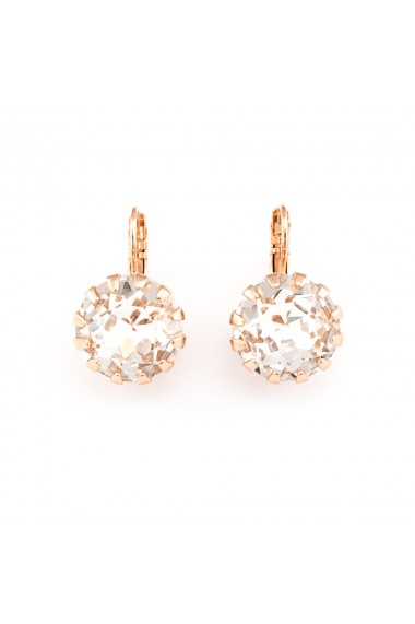 Cercei placati cu Aur roz de 24K cu cristale Swarovski On a Clear Day 1133/1-001RG6