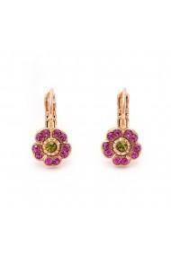 Cercei placati cu Aur roz de 24K cu cristale Swarovski Tiger Lily 1504/2-1311RG6