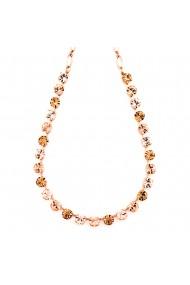 Colier placat cu Aur roz de 24K cu cristale Swarovski Jackie 3252-39132RG