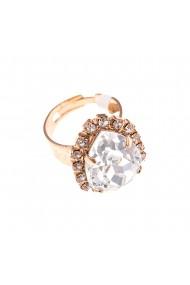 Inel placat cu Aur roz de 24K cu cristale Swarovski On a Clear Day 7098-001001RG