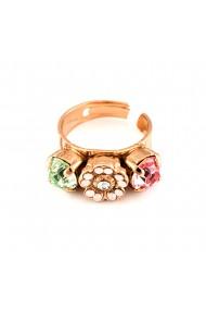 Inel placat cu Aur roz de 24K cu cristale Swarovski Eternity 7504/2-1028RG