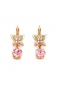 Cercei placati cu Aur roz de 24K cu cristale Swarovski Eternity 1154-1028RG6