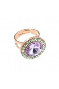 Inel placat cu Aur roz de 24K cu cristale Swarovski California Dreaming 7418/1-1327RG