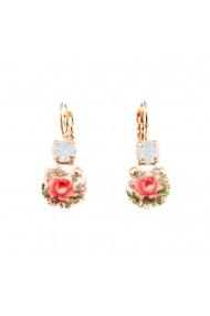 Cercei placati cu Aur roz de 24K cu cristale Swarovski Seashell 1062-234RG6