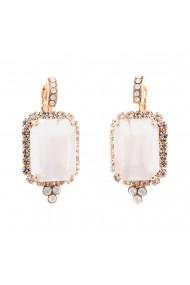 Cercei placati cu Aur roz de 24K cu cristale Swarovski Seashell 1411/1-03RRG6