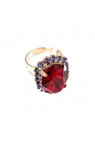 Inel placat cu Aur roz de 24K cu cristale Swarovski Xenia - Odyssey 7090/1-1091RG