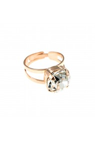 Inel placat cu Aur roz de 24K cu cristale Swarovski April Lucky Birthstone 7048-001RG