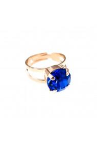 Inel placat cu Aur roz de 24K cu cristale Swarovski September Lucky Birthstone 7048-206RG