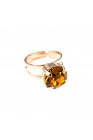 Inel placat cu Aur roz de 24K cu cristale Swarovski November Lucky Birthstone 7048-203RG