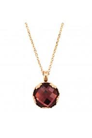 Pandantiv cu lant placat cu Aur roz de 24K cu cristale Swarovski Lady In Red 5323/2-515ARG