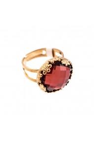 Inel placat cu Aur roz de 24K cu cristale Swarovski Lady In Red 7220-515ARG