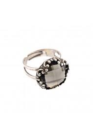 Inel placat cu Argint 925 cu cristale Swarovski Black Diamond 7220-215ASP