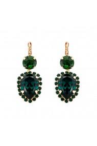Cercei placati cu Aur roz de 24K cu cristale Swarovski Emerald 1098/9-205205RG6