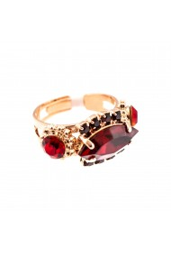 Inel placat cu Aur roz de 24K cu cristale Swarovski Lady In Red 7516-1070RG