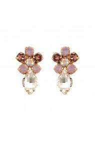 Cercei placati cu Aur roz de 24K cu cristale Swarovski Aura 1628/1-1112RG2