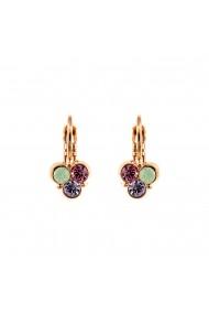 Cercei placati cu Aur roz de 24K cu cristale Swarovski Lavender 1128/3-1910RG6