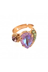 Inel placat cu Aur roz de 24K cu cristale Swarovski Lavender 72009-1910RG