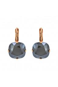 Cercei placati cu Aur roz de 24K cu cristale Swarovski Black Diamond 1326/4-254RG6