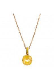 Pandantiv cu lant placat cu Aur roz de 24K cu cristale Swarovski Lemon Emigrant 5326/2-231141RG
