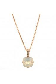 Pandantiv cu lant placat cu Aur roz de 24K cu cristale Swarovski Seashell 5326/2-234234RG