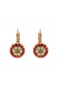 Cercei placati cu Aur roz de 24K cu cristale Swarovski Painted Lady 1416-1120RG6
