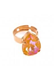 Inel placat cu Aur roz de 24K cu cristale Swarovski Painted Lady 7098/5-140RG