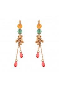 Cercei placati cu Aur roz de 24K cu cristale Swarovski Painted Lady 1160/2-1120RG6