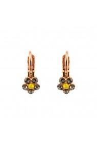 Cercei placati cu Aur roz de 24K cu cristale Swarovski Lemon Emigrant 1166-1121RG6