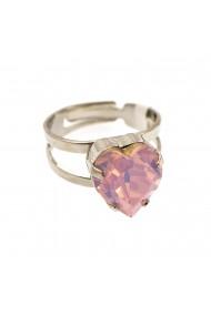 Inel placat cu rodiu cu cristale Swarovski Elizabeth 7100/2-395RO