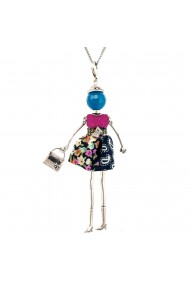 Bambola in Stile Murcia-Blue-Fuchsia