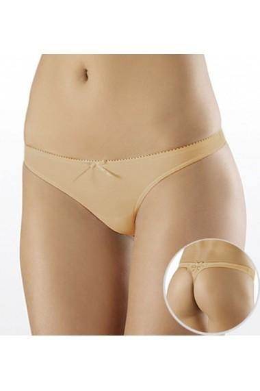 Slip Milavitsa tip tanga / bikini cu talie joasa 25446-crem