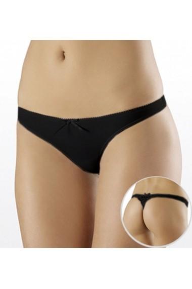 Slip Milavitsa tip tanga / bikini cu talie joasa 25446-negru
